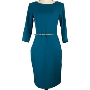MM Lafleur Etsuko Belted 3/4 Sleeve Dress Size 6